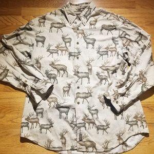 VTG Woolrich Mens XL Cotton Outdoor Button Front